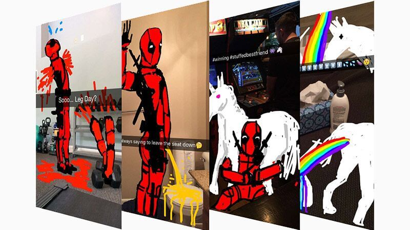 Social Media Year in Review 2017 deadpool snapchat premiere