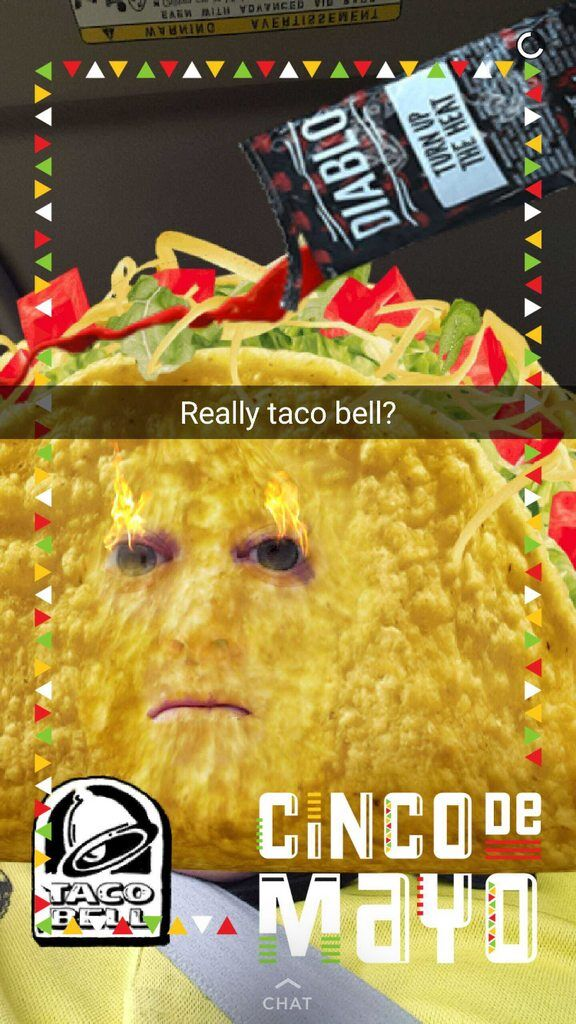 Social Media Year in Review 2017 taco bell snapchat