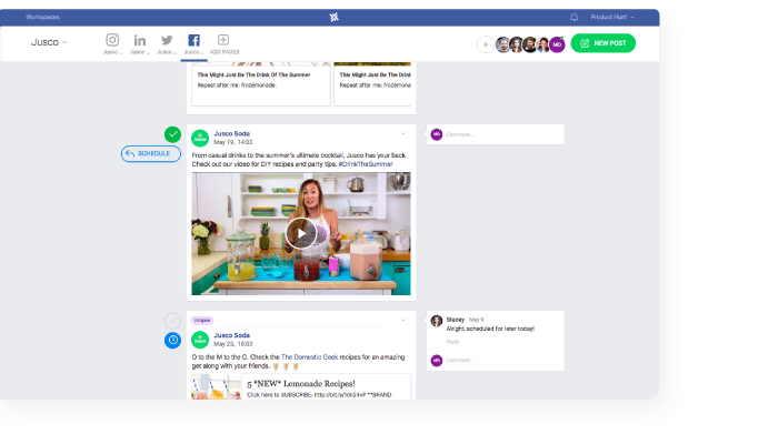 managing multiple social media pages approval in planable