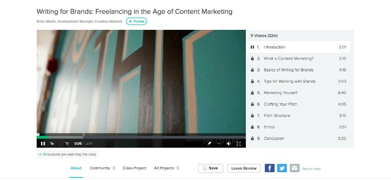 Skillshare Writing for Brands: Freelancing in the Age of Content Marketing