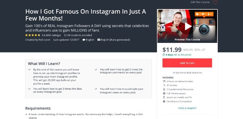 social media courses - how I got famous on instagram in just a few months