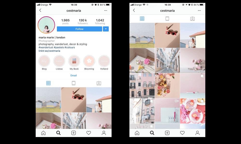 social media for photographers maria marie instagram account