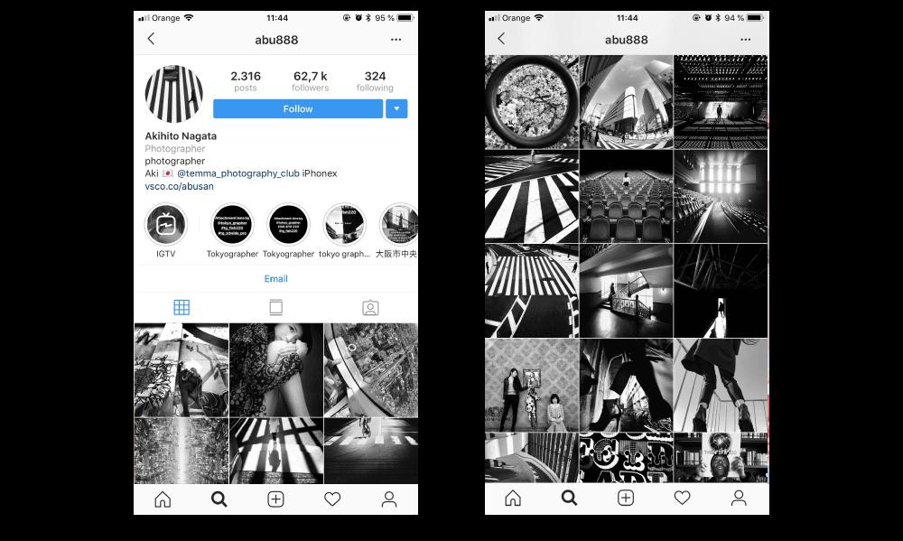 social media for photographers akihito nagara instagram account