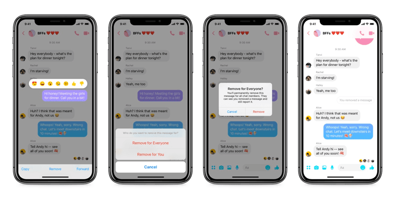 """november social media industry news Facebook Finally Lets You """"Unsend"""" Messages In Messenger"""
