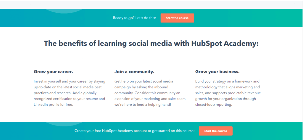 HubSpot social media course