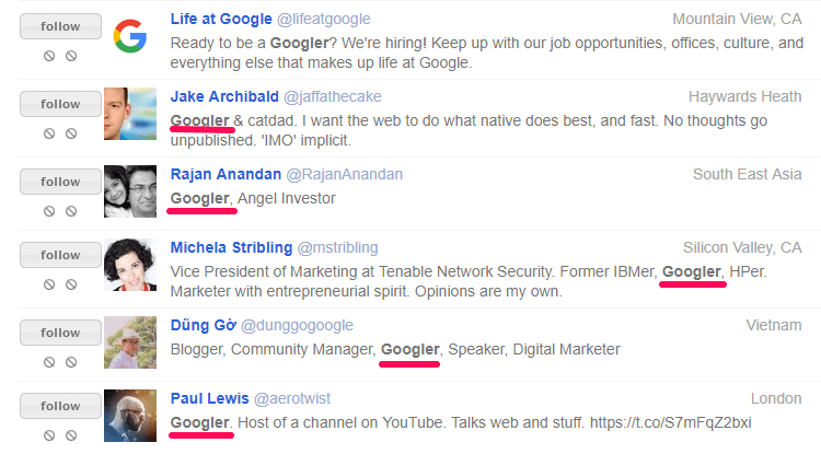 googlers google employees business social culture