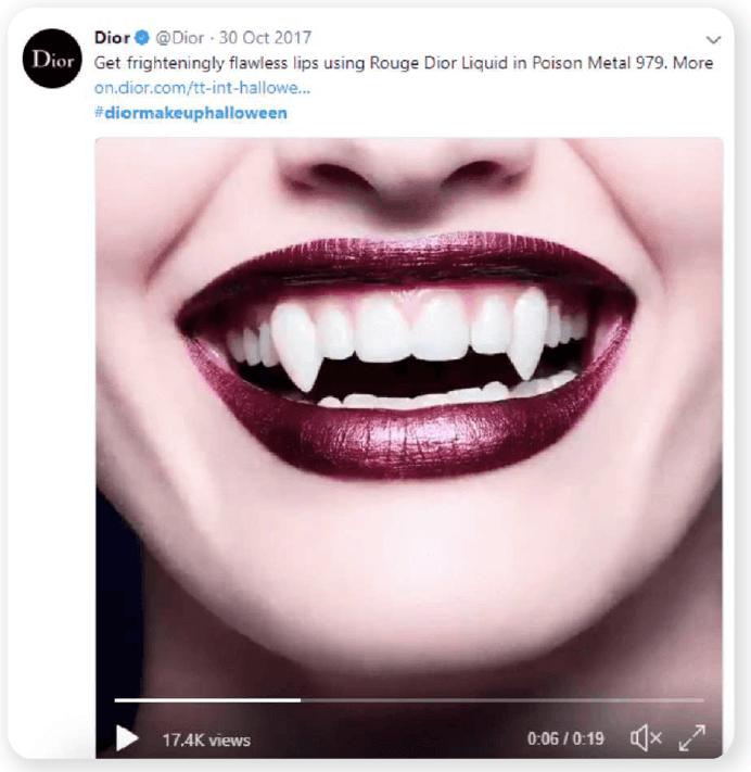 Dior Halloween vampire smile