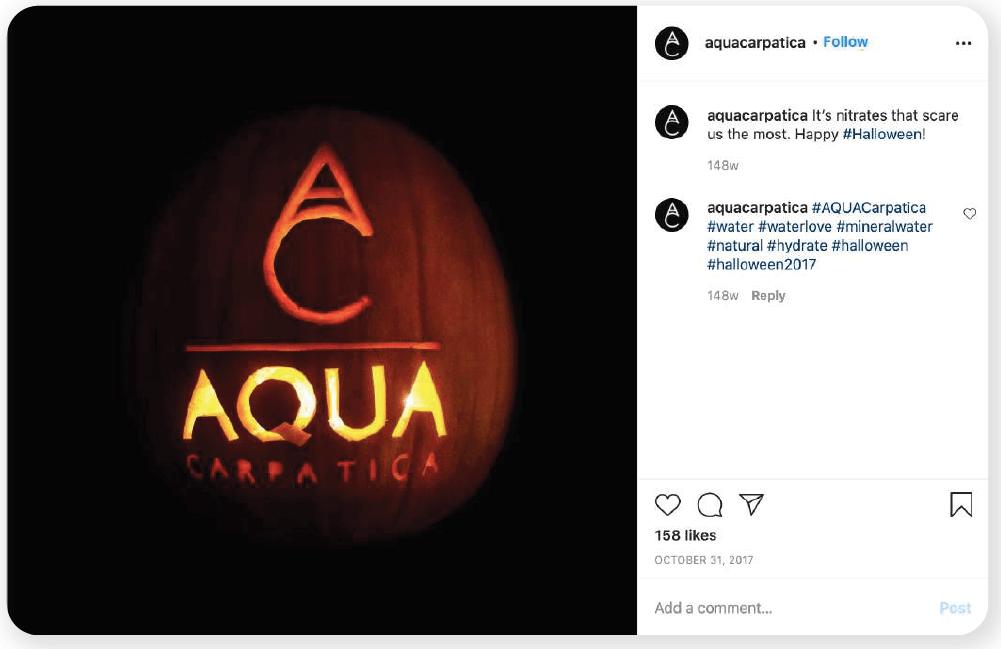 Aqua Carpatica scary nitrates campaign