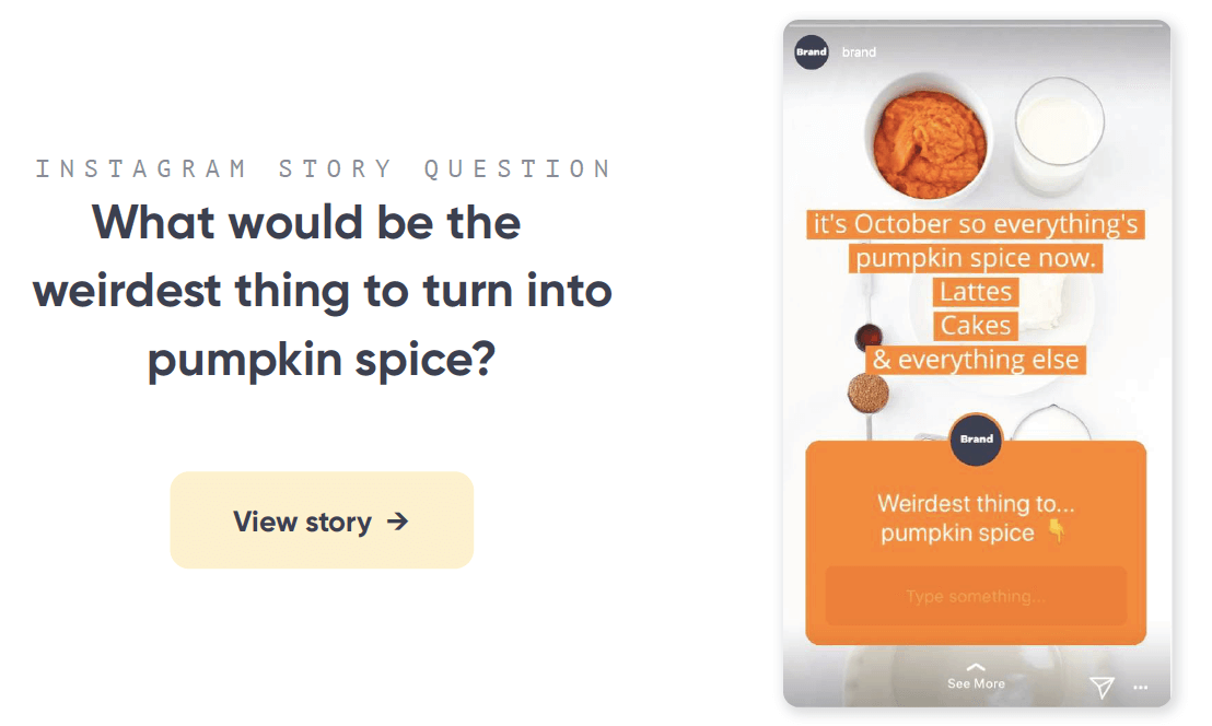 Pumpkin spice Instagram post