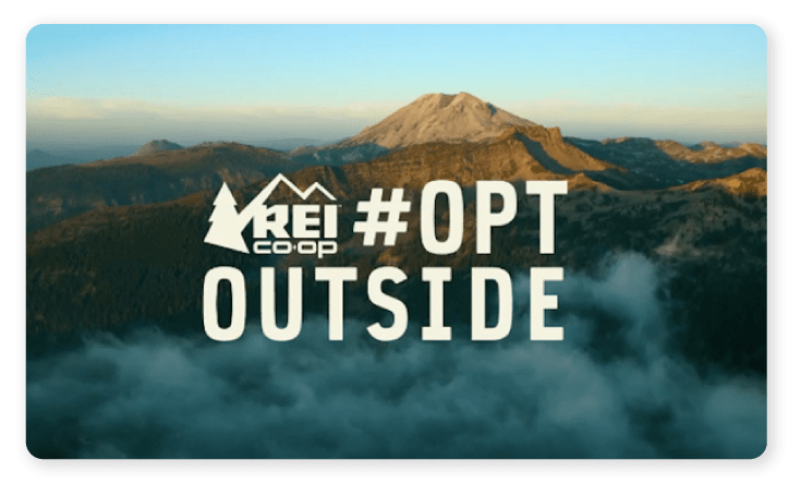 Nature featured in REI's ad #OPTOUTSIDE
