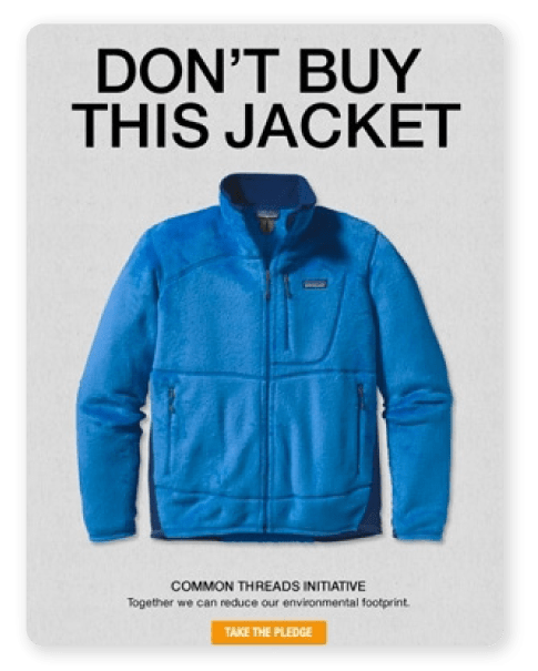 Don't buy this jacket by Patagonia