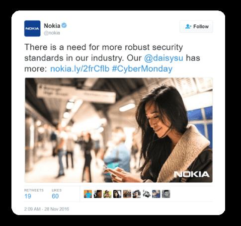 women on phone cybersecurity Nokia