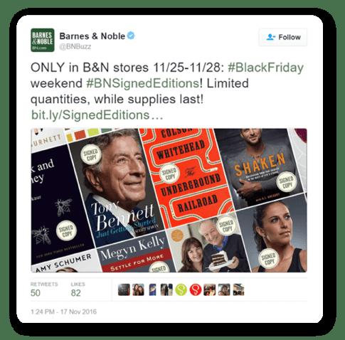 Barnes and Noble Black Friday social media post