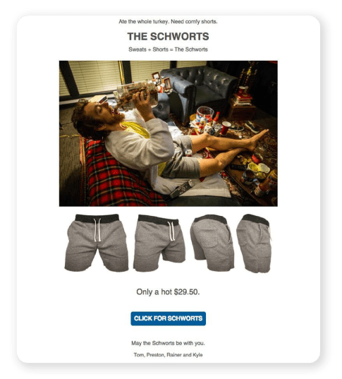 Chubbies. Need comfy shorts ad