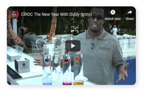 Ciroc The party ad with Diddy