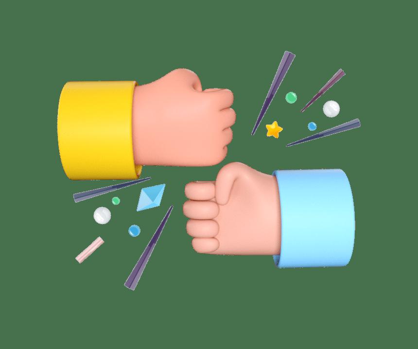 bumping-hands