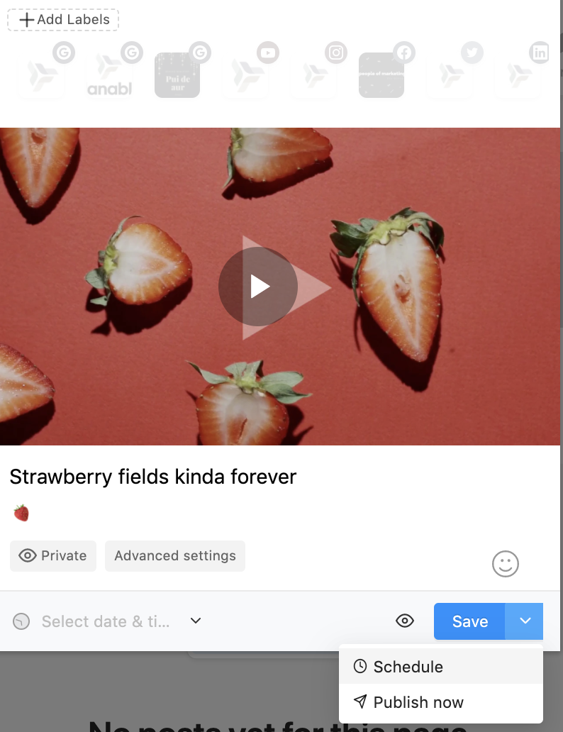 planable youtube marketing integration