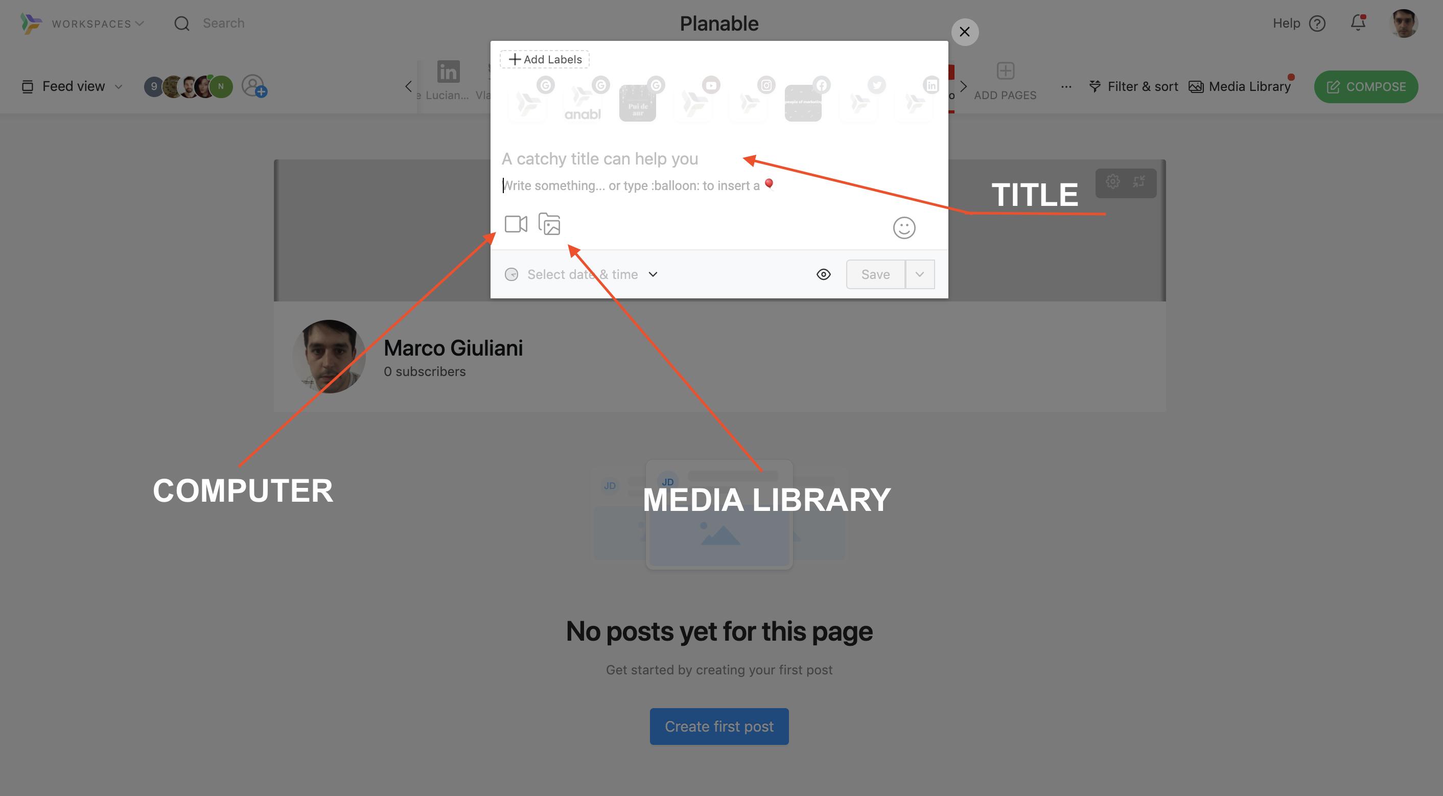 youtube marketing planable