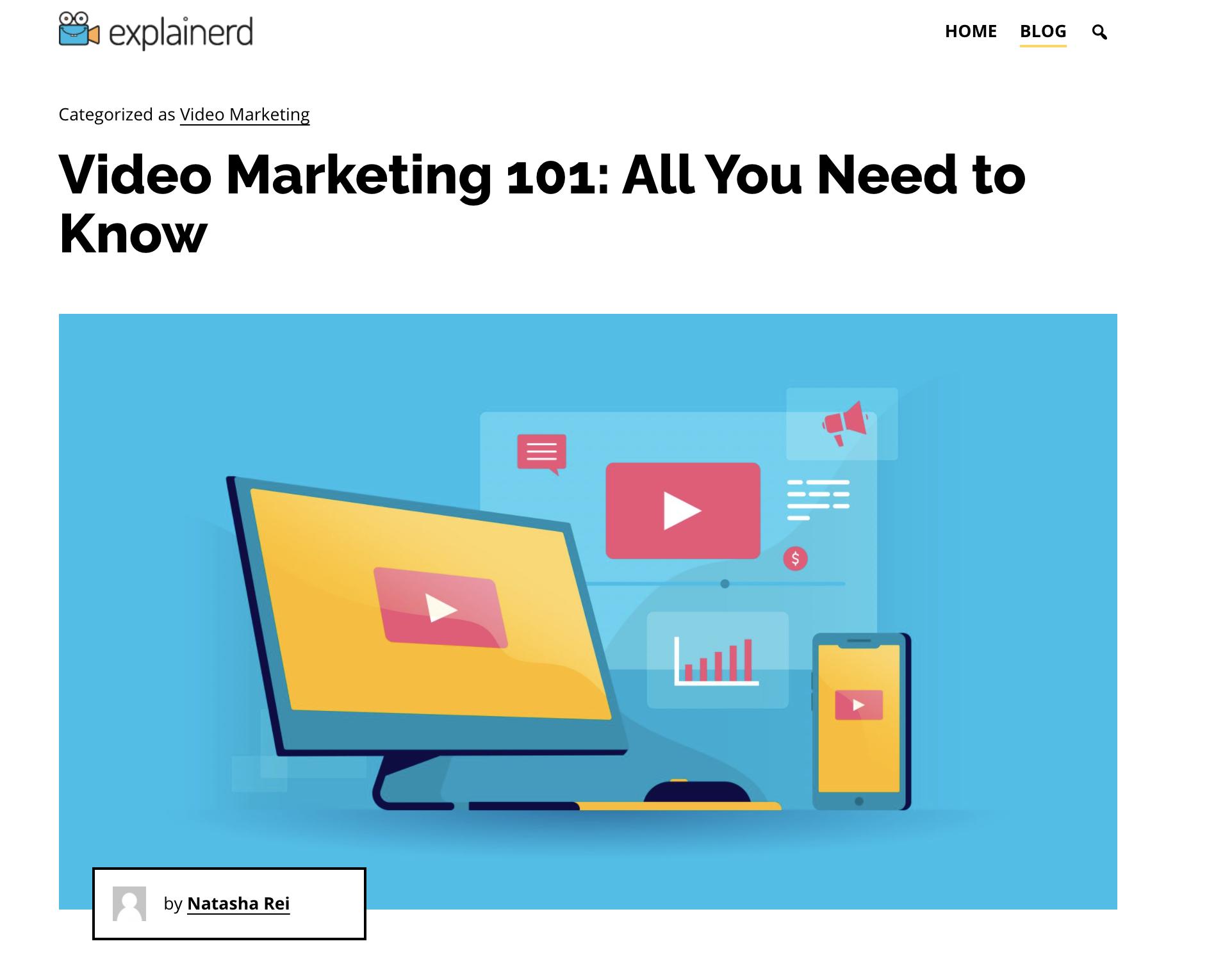 explainerd content marketing example