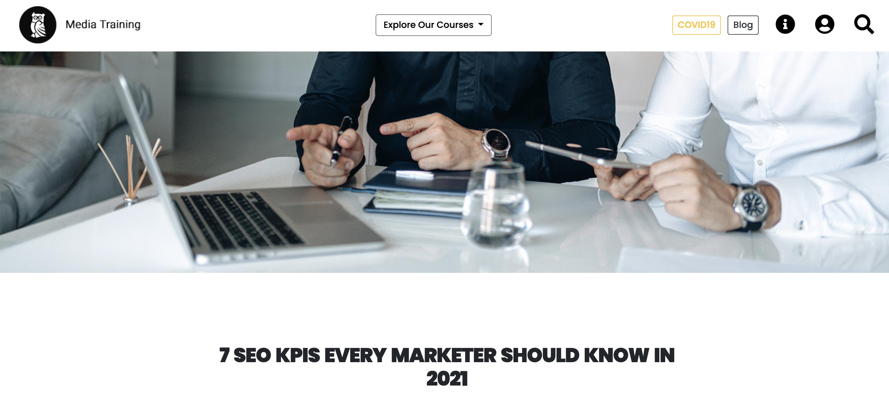 mediatraining content example