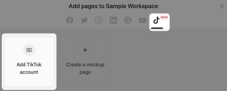 tiktok marketing add page in planable
